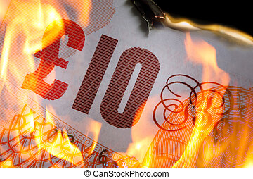 pound;10 burning - £10 burning