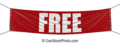 Free Banner - Big free Banner Image with clipping path