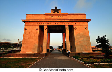 Independence Arch, Accra, Ghana - The Independence Arch of...
