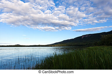 Fraser Lake, along the Yellowhead Highway Highway 16 east of...