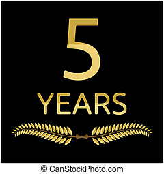 laurel wreath 5 years