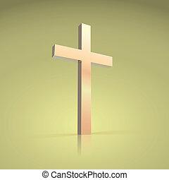 Golden cross, symbol of the Christian