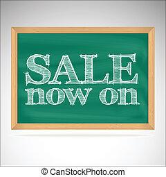 Sale now on - the inscription chalk