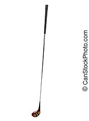 Golf club isolated over a white background