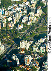 Aerial view of Rio\'s old buildings