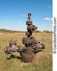 filled up wellhead in the oil and gas industry
