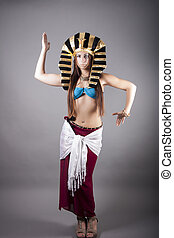 Cleopatra dance like Egyptian - portrait of Cleopatra dance...