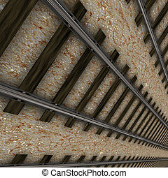Rail road - Digitally rendered image of rail road tracks...