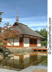 house - A japanese house in a park
