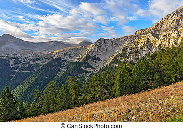 Mount Olympus landscape - Mount Olympus and the national...