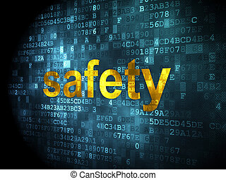 Protection concept: Safety on digital background