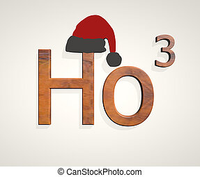 Ho ho ho text isolated on white background