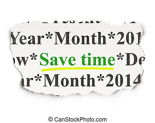 Time concept: Save Time on Paper background - Time concept:...