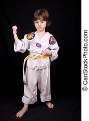 Boy Wearing martial arts Outfit - Attractive young boy...