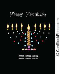 hanukkah,abstract menorah.
