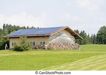 Green Energy - Alternative energy creation at a farm with...