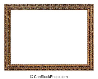 Picture Frame - Old antique gold picture frame wall,...