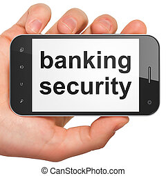 Security concept: Banking Security on smartphone
