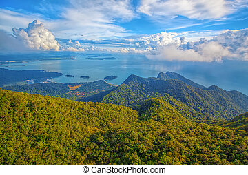 Langkawi viewpoint - The landscape of Langkawi seen from...