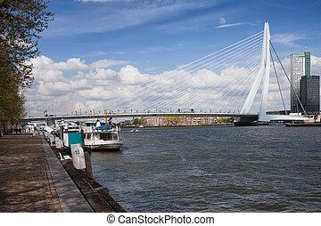 Erasmusbrug in Rotterdam - Erasmus Bridge (Dutch:...