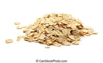 Heap of rolled oats