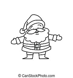 hand drawing cartoon christmas santa claus