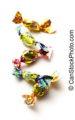 Bon-bons - Bright bon-bons on white background