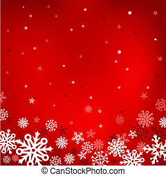 red snow mesh background - The white snow on the red mesh...