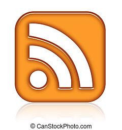 RSS Icon Orange Isolated on a White Background