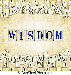 wisdom - seamless background with letters Linux Libertine...