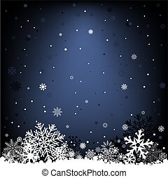 dark blue snow mesh background - The white snow on the dark...
