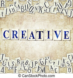 creative - seamless background with letters . Linux...