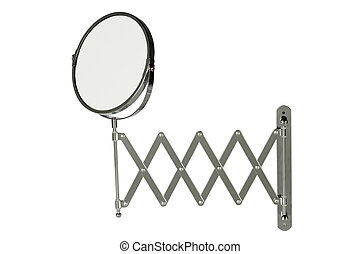 Round stainless steel magnifying mirror - Round magnifying...