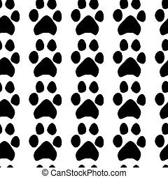 Traces of dogs. Seamless pattern