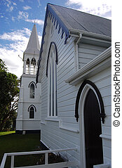 White timber church building - White timber chirch building,...