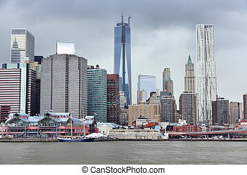 Manhattan - New York City, United States - Manhattan skyline...