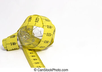 Consumption control - Bulb with measure tape