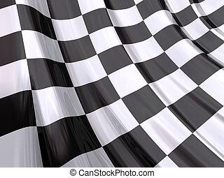 端, レース, 旗