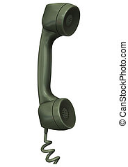 Old Telephone Receiver - 3D digital render of an old...