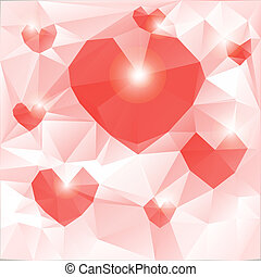 The mood of love. Polygonal geometric figures.