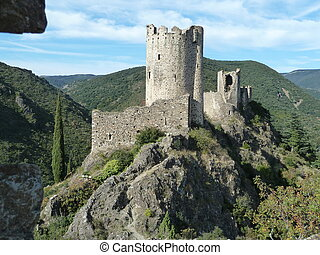 Castle Ruins - Castle ruins on a rocky outcrops at Last...