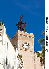 Sitges, 17th century seaside church of Sant Bartomeu i Santa...