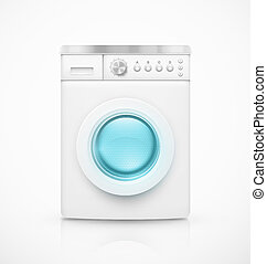 Washing machine - Isolated washing machine, eps 10