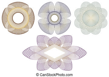 Decorative elements. - Decorative templates for processing...