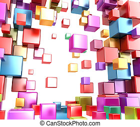 Abstract boxes .Background
