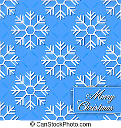 Background seamless from snowflakes