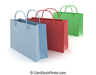 Colorful shopping bags isolated