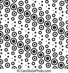 Vector Abstract Monochrome Geometric Pattern