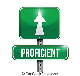 proficient road sign illustration design over a white...