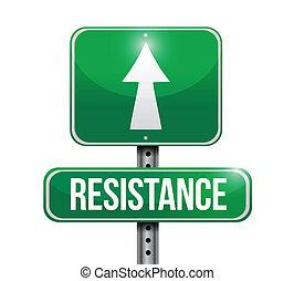 resistance road sign illustration design over a white...